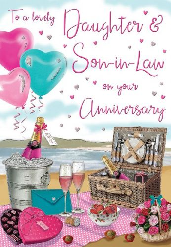 To A Lovely Daughter & Son-In-Law On Your Anniversary